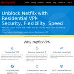 NetflixVPN  $30 USD (~$45 NZD) for 2 Years Plan