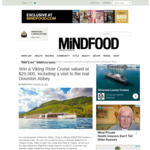 Win a European River Cruise + Visit to 'Downton Abbey' from Mindfood