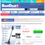 Maxkon Multi-Function Cordless Stick Vacuum Cleaner $149.97 (Was $299.95) + Delivery @ Bestdeals