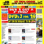 Buy 2 Get 1 Free Blu-Ray/DVD, 3 DVDs for $20 (Selected Titles) @ JB Hi-Fi