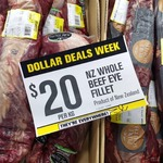 Whole Beef Eye Fillet $20/kg @ Pakn'Save Sylvia Park