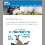 $5 Microchipping for Your Pet (Normally $60) @ SPCA Wellington on 11 October