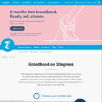 6 Months Free Broadband on 24 Month $95 Unlimited Data Broadband Plan @ 2Degrees