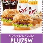 Sky Perks - KFC Dinner Date - 2 Zinger Burgers + 2 Reg Drinks/Fries/Potato and Gravy/Bread Rolls - $15.90
