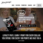 Free Coffee at Joe's Garage with 'Regular Joe' App Download