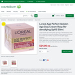 L'Oréal Age Perfect Golden Age Day Cream Rosy Re-Densifying Spf15 50ml $24 (Was $40) @ Countdown