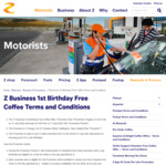 Free Hot Beverage / Coffee for July Birthdays (ID Required) @ Z Energy