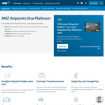 250 Bonus Airpoints Dollars on a New ANZ Airpoints Visa Platinum Card