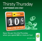 BP Thirsty Thursday: Save 10c/Litre on Fuel (Min Spend $40) @ AA Smartfuel
