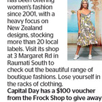 Win a $100 Frock Shop Voucher from The Dominion Post