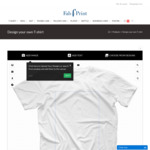 Personalised T Shirt - $37 Delivered @ Fab Print - Get 20% off