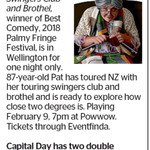 Win 1 of 2 Double Pass to Pat Goldsack's Swingers Club and Brothel from The Dominion Post (Wellington)