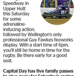 Win 1 of 5 Double Passes to Speedway 28 from The Dominion Post (Wellington)