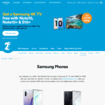 "Free 43"" 4k Samsung TV (Worth $999) with The Purchase of a Note 10, Note 10+ or S10+ When Joining 2degrees on a Monthly Plan"