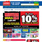 Extra 10% off in-Store and Online (Some Exclusions Apply) @ Chemist Warehouse