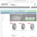 40% off Selected Tyres at Checkout (+ Free Delivery to Associated Installers Nationwide) at Hyper Drive