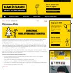 Free $10 Christmas club credit upon joining @ Pak n Save