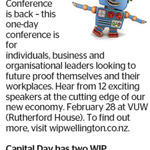 Win 1 of 2 The Work in Progress Conference Registrations (Worth $289) from The Dominion Post (Wellington)