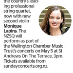 Win a Double Pass to see the New Zealand String Quartet from The Dominion Post (Wellington)