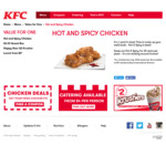 Swap a Normal Piece of Chicken with a Hot & Spicy Piece of Chicken for $0.25 Each @ KFC