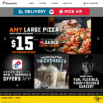 Value Range Pizzas $3.99 until 3pm @ Domino's