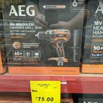 AEG 18V Brushless Hammer Drill Skin $75 (Was $249) In Store only @ Bunnings, Lyall Bay