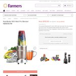 Nutribullet $159 @ Farmers (in Store Only) Normally $229 RRP
