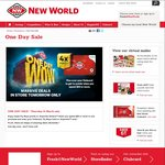 New World One Day Wow: Tomatoes $1.99/kg, Chicken Drums $3.99/kg, Tip Top Ice Cream 2L $3.99 (SI Only) + More