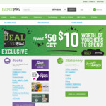 Spend $50 Get $10 Voucher @ Paperplus