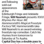 Win a Double Pass to 1000 Rhymes Per Hour: MC Hammersmith's Magical Freestyle Factory from The Dominion Post (Wellington)