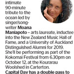 Win a Double Pass to My Name Is Moana from The Dominion Post (Wellington)