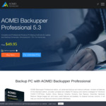 [PC] Free: AOMEI Backupper Professional Edition 5.3 (Was $49.95 USD) @ AOMEI