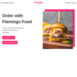 Free Delivery (New Users) @ Flamingo Food Min Spend $15