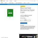 40% off Xbox Live Digital Codes - 12 months $47.97 Or 3 months $17.97 @ Microsoft NZ