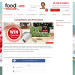 Win a Christmas Baking Prize Pack (Includes a Sunbeam Hand Mixer, $50 Prezzy Card, Wattie's Canned Fruits and an Apron)