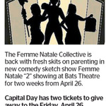 "Win 2 Tickets to Femme Natale ""2""  from The Dominion Post (Wellington)"