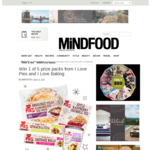 Win 1 of 5 I Love Pies and I Love Baking Prize Packs from Mindfood