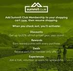 Free Summit Club Membership (Was $10) @ Kathmandu