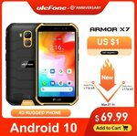 Ulefone Armor X7 5.0-Inch Android10 USD69.99 (~NZD115.88) Free Shipping @ AliExpress