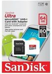 SanDisk 64GB Ultra Micro SD SDXC 80MB/s Class 10 ($27.80 NZD Delivered from pc.byte on eBay)
