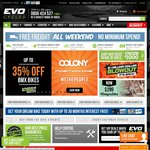 Evolution Cycles Free Freight All Weekend, No Restrictions
