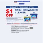 $1.00 off Finish Dishwasher at Countdown & Free Full Size Product on Referral for Finish Club Members