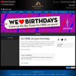 Free Entry (Normally $29) on Your Birthday @ Sky Tower Auckland