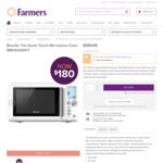 Breville The Quick Touch Microwave Oven 34L White - $179.99 (Was $399) @ Farmers