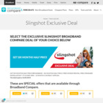 Six Months Half-Price Broadband Exclusive Deal (from $84.95/Month Thereafter - 12 Month Contract) @ Slingshot