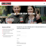 Free Fries When You Join Their Mailing List @ Lord of The Fries