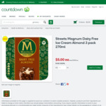 Streets Magnum Dairy Free Ice Cream Almond 3 Pack 270ml $5 (was $7) @ Countdown