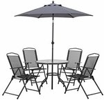 Marquee 6 Piece Lisbon Outdoor Setting $99 at Bunnings Warehouse