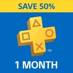PlayStation Plus: 1 Month Membership - 50% off ($6.97)