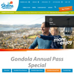 Skyline Rotorua Annual Pass Buy-1 year-Get-1 year-Free $72 (Adult) $38 (Child)